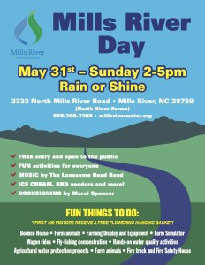 Mills River Day- Flyer-Poster 2015